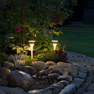 Assisi RGBW LED Solarleuchten-Set 2-tlg. Solar Gartenlampe Gartenleuchte