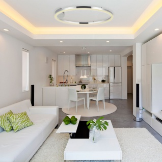 s.LUCE pro LED-Deckenlampe Ring L Dimmbar Ø 80cm in Chrom Wohnzimmer Ring Deckenlampe - Vorschau 5