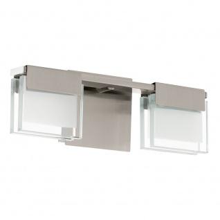 Eglo 93733 Clap 1 LED Wand- & Deckenleuchte 2-flammig Klar Weiß Nickel-Matt