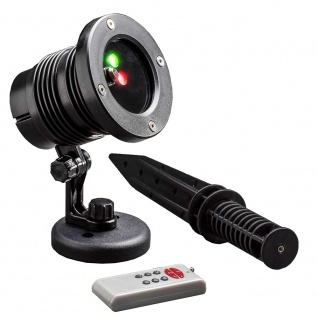 LED Laser mit bewegten & funkelnden Punkten Fernbedienung Bewegungssensor Timer für Außen