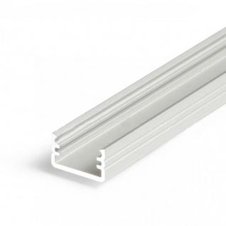 Aufbauprofil mini 200cm Alu-roh ohne Abdeckung für LED-Strips