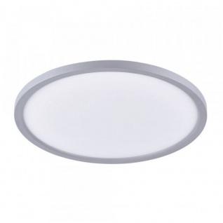 Licht-Trend Q-Flat Ø45cm LED Deckenleuchte 3000K Silber LED-Deckenlampe
