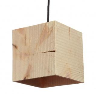 Almleuchten H1 kubische Hängeleuchte 18 x 18cm aus Altholz Hängelampe aus Holz - Vorschau 3