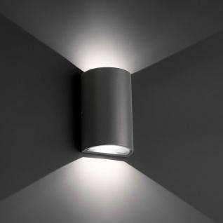LED Außenwandleuchte LACE 3W 4000K IP54 Dunkelgrau