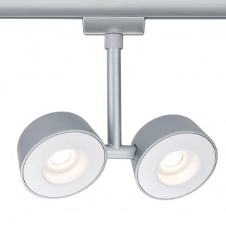 Paulmann URail Systems LED Spot Double Pellet 2x4W Dimmbar Chrom-Matt 95471 - Vorschau 2