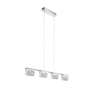 Eglo 94293 Tresana LED Hängeleuchte 4 x 58 W Stahl Chrom Stahl Kristall Chrom klar