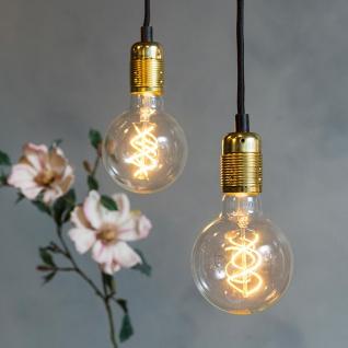 QAZQA Pendelleuchte Cava 2-flammig Goldfarben Retro-Leuchte Vintage-Lampe Fassung