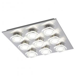 Eglo 94573 Marchesi / LED Wand & Deckenleuchte / 9 x 45 W / Stahl Alu Nickel-Matt Kunststoff klar