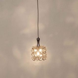 Holländer 255 K 1501 Pendelleuchte Rund Metall verchromt-Kristallglas Silber-Klar