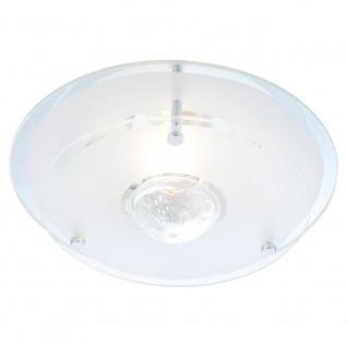 Malaga Glas Deckenleuchte Kristall 1-flammig rund Deckenlampe