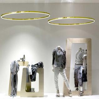 s.LUCE Ring M LED-Hängeleuchte Ø 60cm Dimmbar Gold Wohnzimmer Hängelampe Ringleuchte