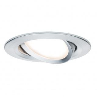 Paulmann 3er LED Einbauleuchten-Set Coin Slim IP23 rund 6, 8W Alu dimm- & schwenkbar 93903