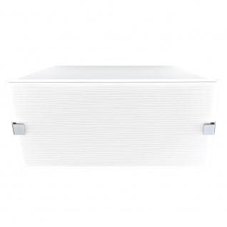 Eglo 92579 Alea 1 Wand- & Deckenleuchte 2-flammig Weiß Mit Dekor Chrom