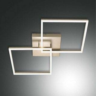 Fabas Luce LED Deckenlampe Bard 5400lm Gold-Edelmatt