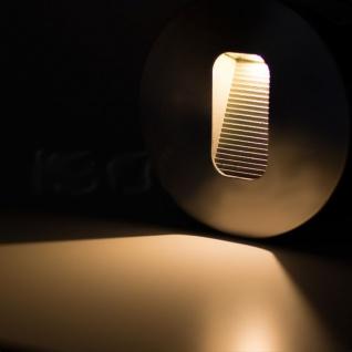 LED Wandeinbauleuchte eckig 3W Edelstahl Warmweiß IP65 - Vorschau 2