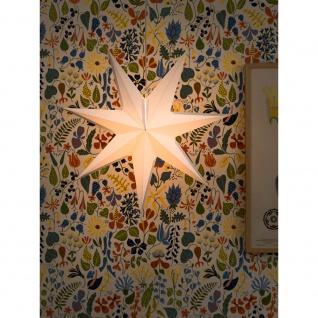 Konstsmide 2917-200 Weißer Papierstern 7 Zacken inkl. Anschlusskabel mit an/aus Schalter ohne Leuchtmittel E14 Lampenhalterung für Innenbereich