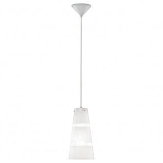Eglo 93202 Noria 1 Hängeleuchte Ø 15, 2cm Weiß Klar Silber Chrom