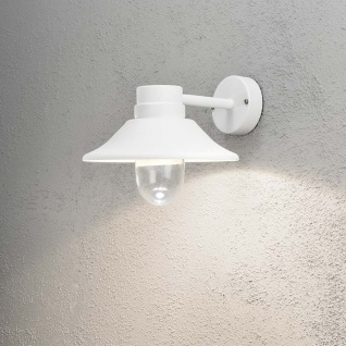 Konstsmide 412-250 Vega LED Aussen-Wandleuchte / Weiß, klares Glas