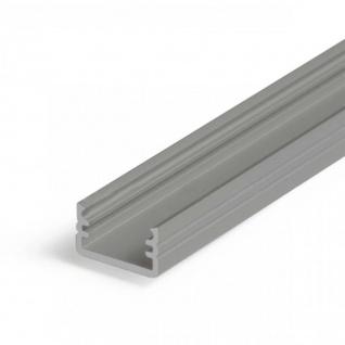 Aufbauprofil mini 200cm Alu-eloxiert ohne Abdeckung für LED-Strips