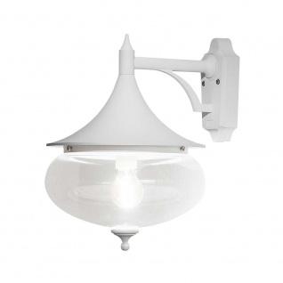 Konstsmide 581-250 Libra Aussen-Wandleuchte Weiß klares Glas