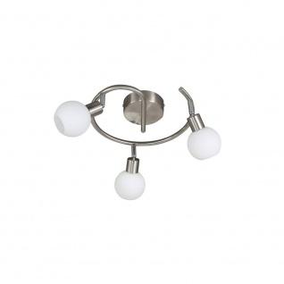Wofi Nois LED Deckenspirale 3-flammig Nickel matt Strahler Spots