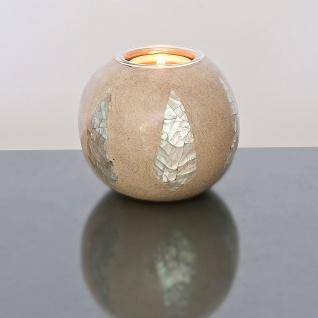 Holländer 260 3613 Kugelleuchter Mosaiko Kunstharz-Naturmaterialien Sand-Silber