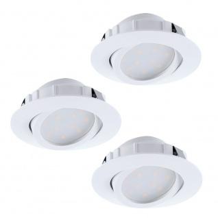 Eglo 95857 Pineda LED Einbaustrahler 3er-Set 3 x 500lm Weiß