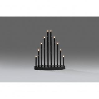 LED Metallleuchter schwarz lackiert klein 10 Warmweiße Dioden 3V Innentrafo - Vorschau 2