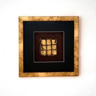 Holländer 306 3131 Wandbild Micado 1 Holz-Glas-Kunststein Gold-Schwarz