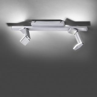 Licht-Trend Convert 2 moderner LED Deckenbalken mit Dimmer Alu-Gebürstet Deckenleuchte