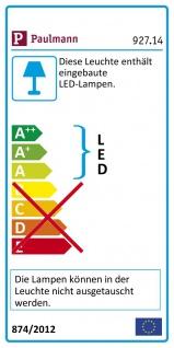 Paulmann Premium EBL Set Panel rund LED 1x6, 5W 2700K 8VA 180mm Weiß m Alu 92714 - Vorschau 3
