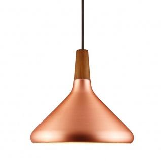 Licht-Trend Pinzantero 2 Kupfer-Hängeleuchte Ø 27cm Walnuss-Holz Pendellampe - Vorschau 2