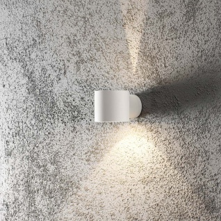 Konstsmide 7342-250 Modena Square Aussen-Wandleuchte Weiß klares Glas