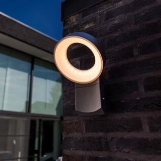 Lutec Meridian LED-Außenwandleuchte mit Bewegungsmelder IP54 800lm Anthrazit - Vorschau 3