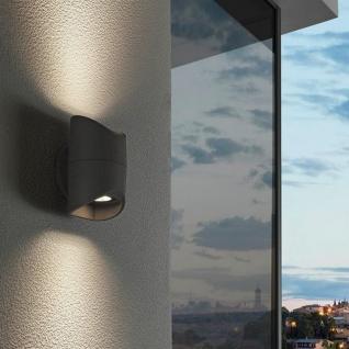 Abrantes LED Aussen-Wandleuchte 2-flammig Anthrazit Wandlampe Aussen