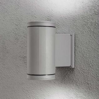 Konstsmide 7652-300 Siracusa Aussen-Wandleuchte mit Halogen Leuchtmittel Grau klares Glas Reflektor