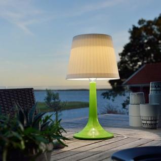 Solar LED Tischlampe Assisi Grün Solar Gartenlampe Gartenleuchte