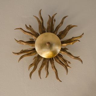 s.LUCE Diator L / geschmiedete Sonne Ø 50cm / rost gold / Wandlampe / Deckenlampe - Vorschau 3