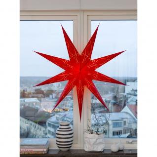 Konstsmide 2974-500 Roter Papierstern, perforiert, 9 Zacken, inkl. Anschlusskabel mit an/aus Schalter, ohne Leuchtmittel, E14 Lampenhalterung für Innenbereich