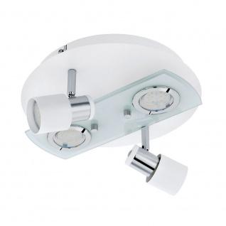 Eglo 32002 Pawedo 1 Wand- & Deckenlampe 4-flammig Weiß Chrom Klar