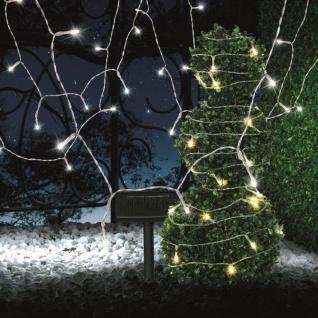 LED Solarleuchte mit Panel 10 Meter Schwarz Solar Gartenlampe Gartenleuchte