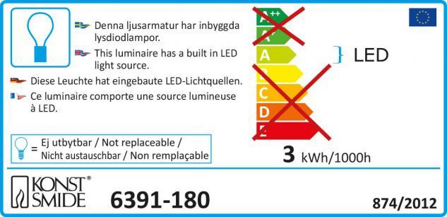 Konstsmide 6391-180 LED Diamantenlametta, 10 Stränge à 20 Dioden ...
