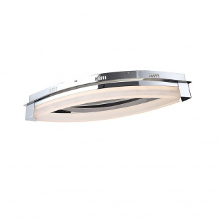 Wofi Vannes LED Deckenleuchte Chrom Deckenlampe