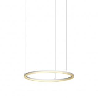 s.LUCE pro LED-Hängeleuchte Ring M Ø 60cm Weiß Design Hängelampe Ringleuchte