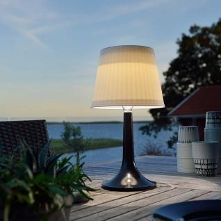 LED Tischlampe Assisi Schwarz Solar Gartenlampe Gartenleuchte