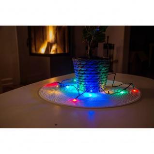 Micro LED Lichterkette verschweißt 20 bunte Dioden 24V Innentrafo dunkelgrünes Kabel - Vorschau 2