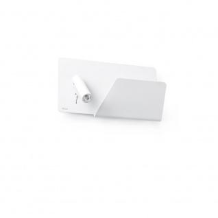 USB Wandleuchte SUAU mit rechten LED-Lesespot Weiß