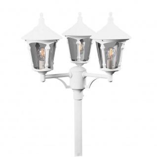 Konstsmide 573-250 Virgo Leuchtenkopf 3-tlg. für Mastleuchte Weiß rauchfarbenes Acrylglas