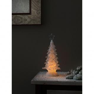 LED Acryl Weihnachtsbaum rotierend 3 Warmweiße Diode batteriebetrieben für Innen