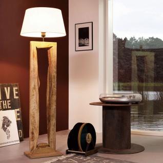 Licht-Trend Timber Stehleuchte mit Holzfuß h126cm Braun Holz Stehlampe
